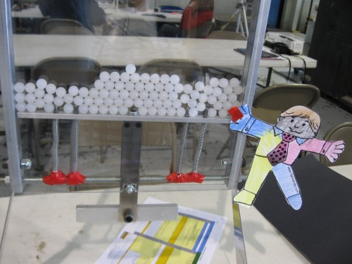 Flat Stanley checks out our experiment.